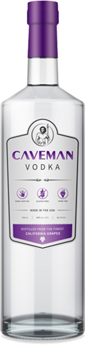 Caveman Vodka Bottle